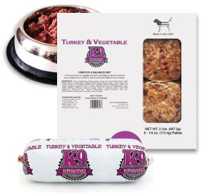 Turkey and Vegetable Raw Dog Food from Inland Empire Raw
